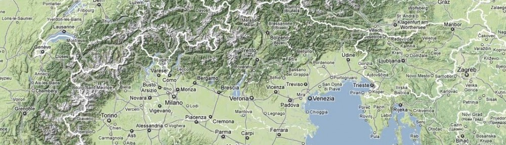 Alpenkarte