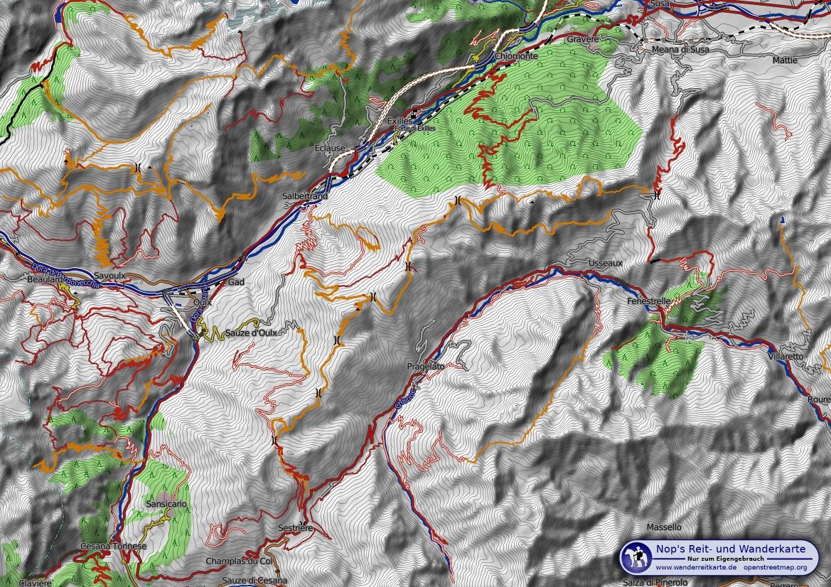 Topografische Karte: Reit  und Wanderkarte
