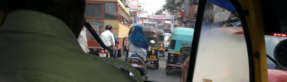 Motor Rikscha in Pune, Indien