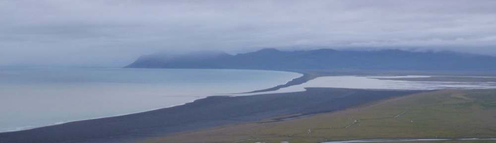 Blick auf die Bucht Héraðsflói