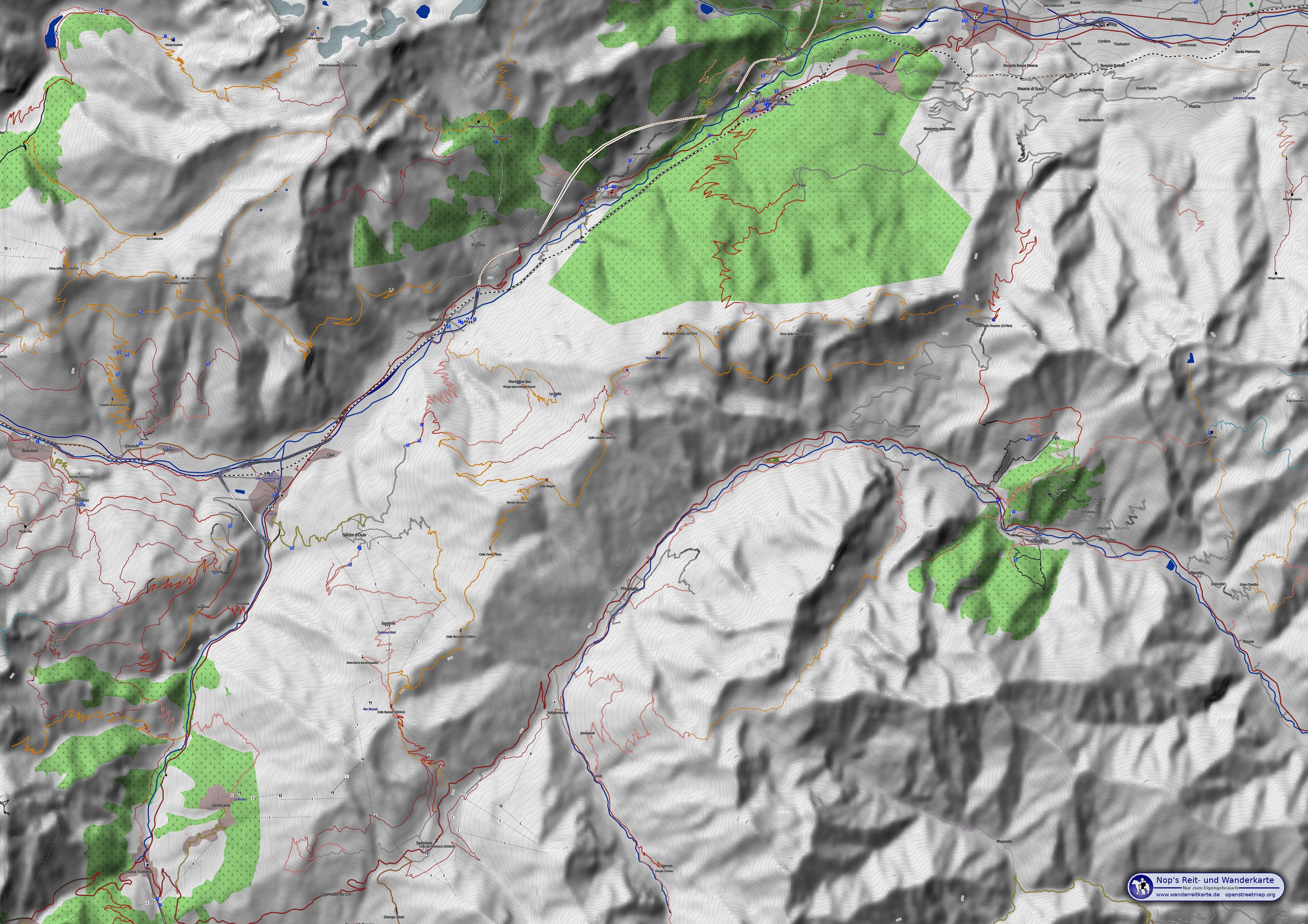 osm wanderkarte Topografische Karte: Reit  und Wanderkarte   Friedberts  osm wanderkarte