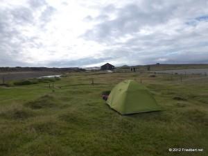Unser Zelt auf Island
